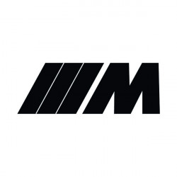 M monochrome logo