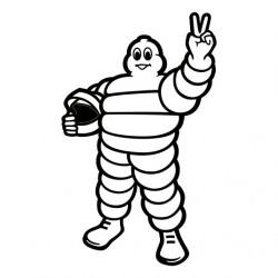 Bibendum Michelin pilote