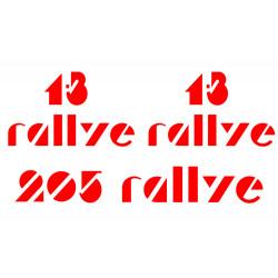 Peugeot 205 Rallye Stickers