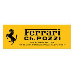Sticker Ferrari Ch.Pozzi